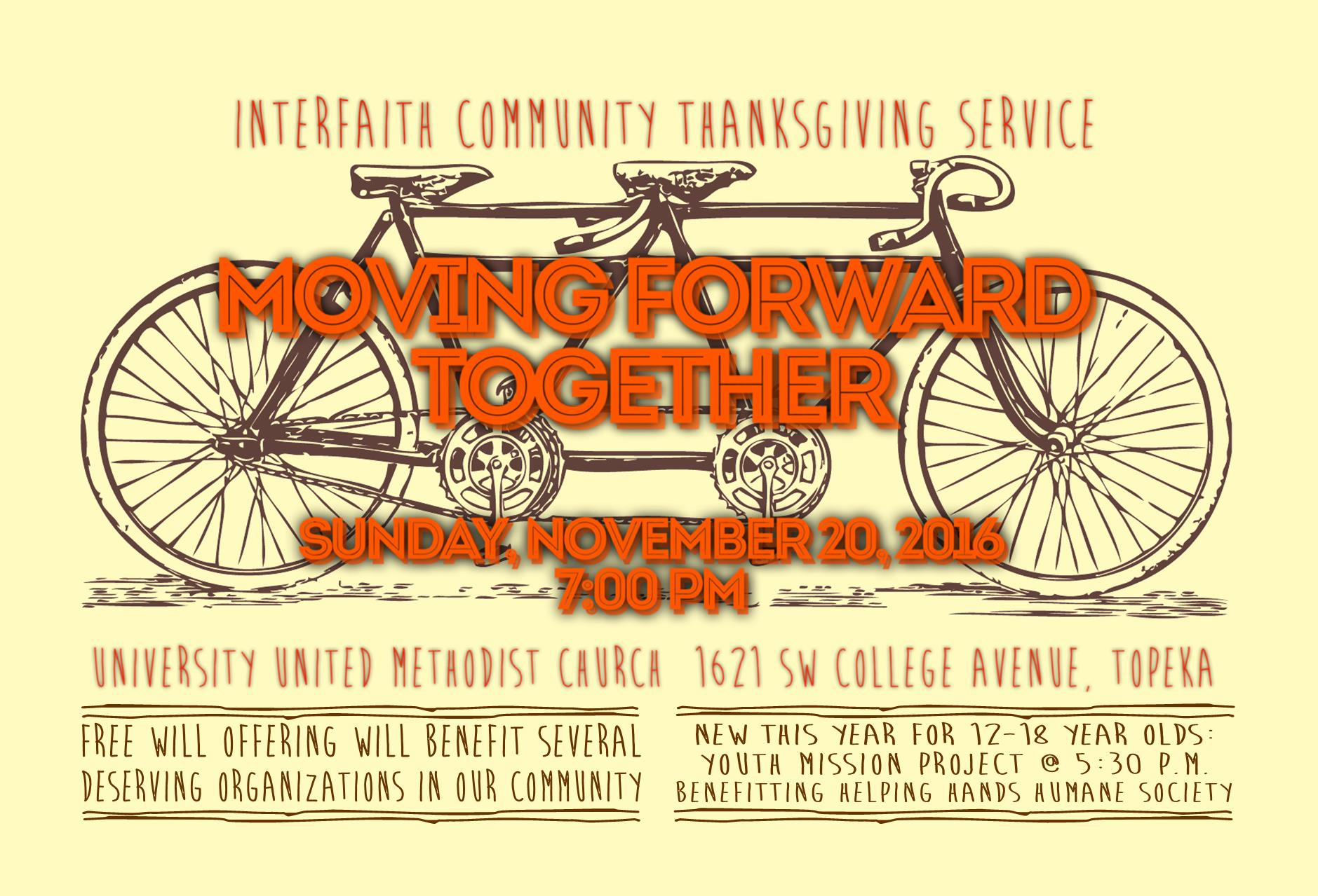Interfaith Thanksgiving Service Poster